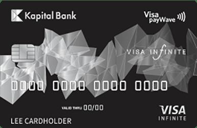 Visa kartlarının bütün imkanlarını özündə birləşdirən Visa Infinite kartı VIP statusa malikdir.